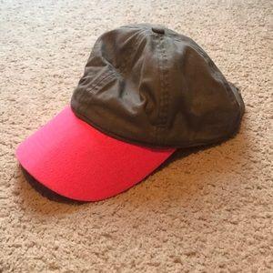 Grey and pink baseball cap
